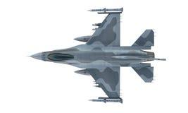 喷气机在白色背景的F-16孤立 美国军用战斗机 美国军队 免版税库存照片