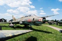 喷气机在航空博物馆在克拉科夫 免版税库存照片