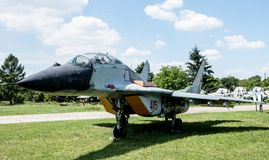 喷气机在航空博物馆在克拉科夫 库存照片