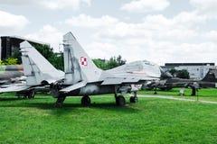 喷气机在航空博物馆在克拉科夫 免版税库存图片