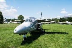 喷气机在航空博物馆在克拉科夫 库存图片
