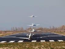 喷气机多起飞 免版税库存照片