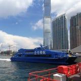 喷气机小船向澳门 免版税库存图片