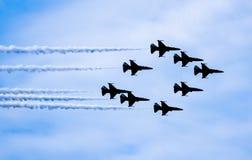 喷气机展示 免版税图库摄影