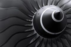 喷气机引擎刀片 库存照片