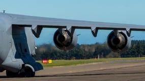 喷气机引擎力量  免版税库存照片