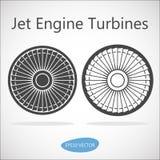 喷气机引擎涡轮正面图 免版税库存照片
