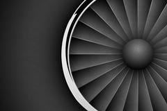 喷气机引擎涡轮黑暗的水平的背景 详细的飞机马达有镀铬物金属圆环正面图 也corel凹道例证向量 库存例证