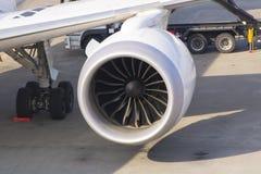 喷气机引擎涡轮 免版税库存照片