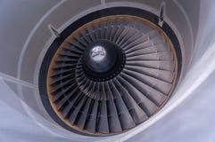 喷气机引擎的入口和风扇叶片在蒙特利尔,加拿大 免版税库存图片
