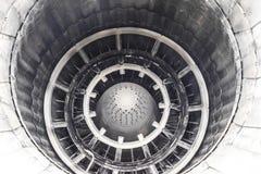喷气机引擎的喷管有一个易变的推力方向的 免版税库存照片