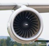 喷气机引擎航空器特写镜头 免版税库存照片