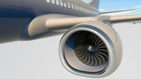 喷气机引擎,飞机, 3d涡轮叶片回报 免版税库存照片