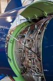 喷气机引擎维护 库存图片