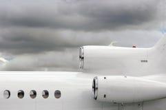 喷气机白色 免版税库存照片
