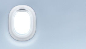 喷气机窗口内部。旅游业设计观念。 库存图片