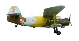 喷气机老平面俄语 图库摄影