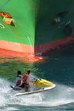 喷气机船滑雪 免版税库存照片