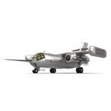 喷气机运输道尼尔做31在白色背景 库存图片