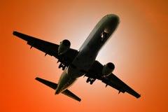 喷气机,飞行 免版税库存照片