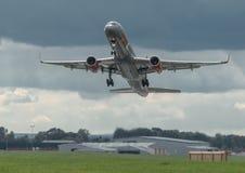 喷气机2波音757 库存图片