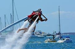 喷气机组装在英属黄金海岸昆士兰澳大利亚 免版税图库摄影