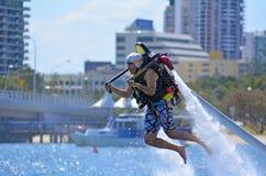 喷气机组装在英属黄金海岸昆士兰澳大利亚 库存照片