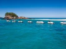 喷气机滑雪游览-斐济 免版税库存照片