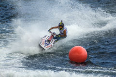 喷气机滑雪竞赛竞争蟒蛇 库存照片