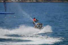喷气机滑雪骑马 免版税库存照片
