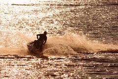 喷气机滑雪 图库摄影