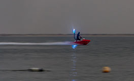 喷气机滑雪 免版税库存照片