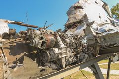 喷气机enginedisplayed在军队汇集博物馆从克罗地亚家园战争的 免版税库存照片