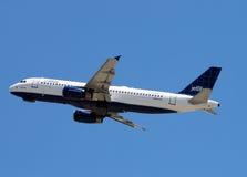 喷气机jetblue乘客 免版税库存图片
