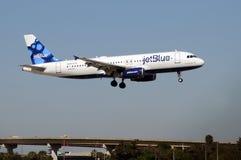 喷气机jetblue乘客 库存照片