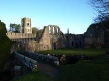 喷泉修道院Ripon约克夏英国 库存图片