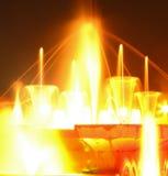 喷泉光 库存照片