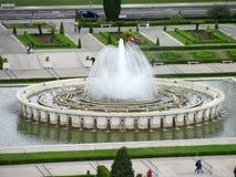 喷泉全景在帝国正方形的 免版税库存照片