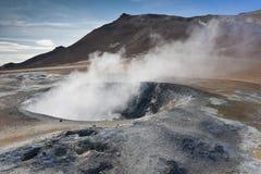 喷泉冰岛 库存照片