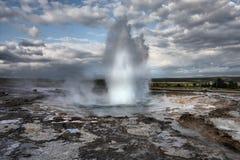 喷泉冰岛 图库摄影
