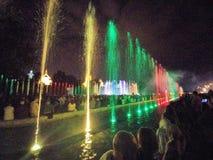 喷泉华沙 库存照片