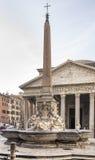喷泉和万神殿方形的Rotonda的(建筑师Giaco 免版税库存照片