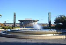 喷泉和公园在哥本哈根 免版税库存图片