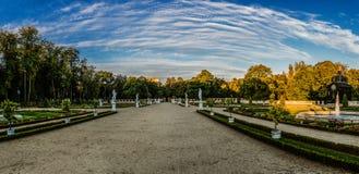 喷泉和庭院在Branicki宫殿附近在Bialystok 库存照片