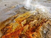 喷泉和热量湖在黄石 免版税图库摄影