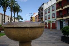 喷泉和都市风景 库存照片