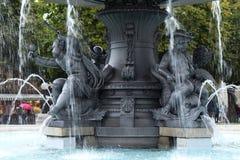 喷泉喷洒的水在德国 免版税图库摄影