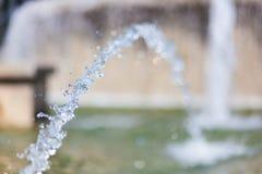 喷泉喷水在米兰 免版税库存照片