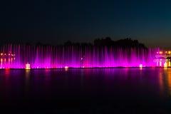 喷泉在乌克兰市Vinnitsa 免版税库存图片