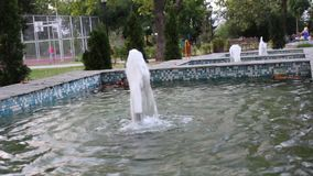 喷泉在佩特里奇郊外黄昏的 没有声音 股票录像